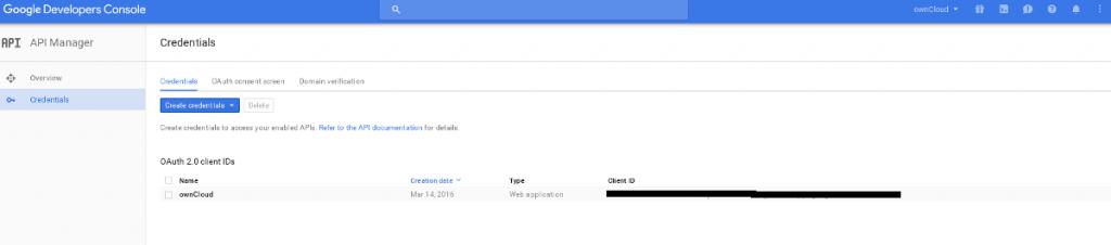 Google Dev Console