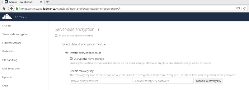 ownCloud encryption module