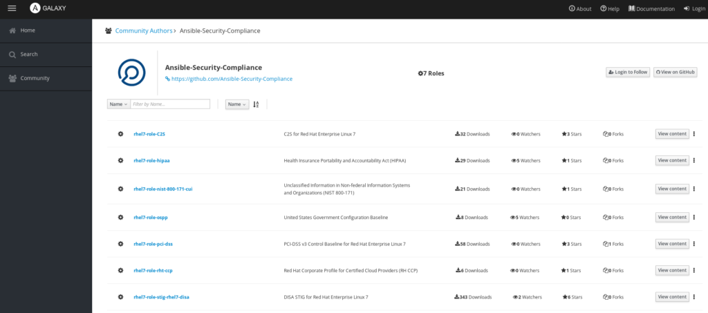 Ansible security compliance
